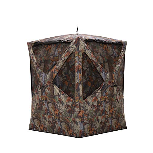 Barronett Blinds PR300BT Prowler 300 Tall Pop-Up Portable Hunting Blind, Woodland Camo, Multi