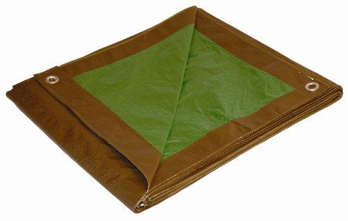 8x16 Multi-Purpose Brown/Green Medium Duty DRY TOP Poly Tarp (8'x16')