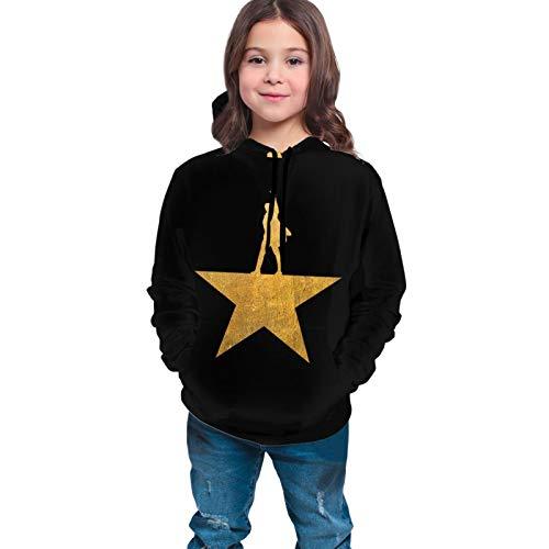LEAH REED Musicals Hamilton Teen's, Boy's, Girl's, Kids, Unisex 3D Printed Hoodie, Sweatshirts, Pullover Hooded Black 7-8 Years