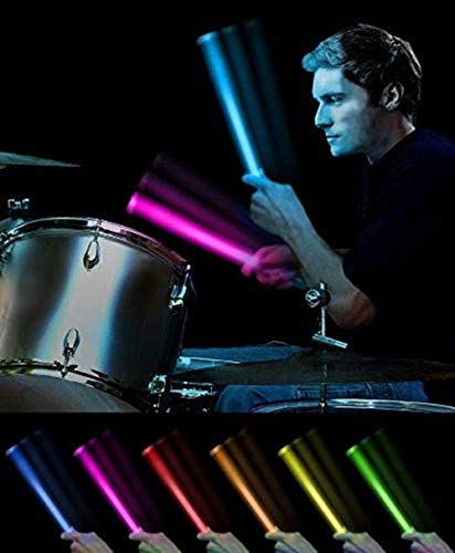 Light Stix Radial 360° LED Light Up Drumsticks - COLOR CHANGE  16 Unique Glowing Colors Change With Every Beat! NEW Premium 360° Radial Spring Provides Improved Performance, Durability, Sensitivity