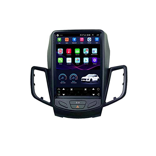 9.7' Tesla Style Screen Android 10.0 Car GPS Player for Ford Fiesta 2009 2016 Car Radio Stereo Head Unit Navigation No DVD 2 Din(Color:13-16 IPS2.5D)
