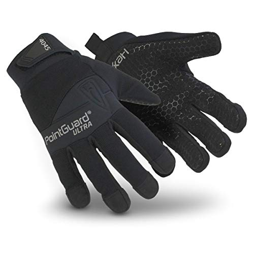 HexArmor PointGuard Ultra 4045 Police Search Gloves with Needle and Puncture Resistance, Large