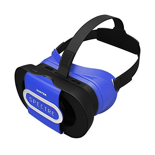 VIOTEK Spectre Folding Virtual Reality VR Headset Phone Accessory - Lightweight Glasses with Collapsible Case for Samsung Apple iPhone LG HTC Motorola Nokia Google Pixel and More!