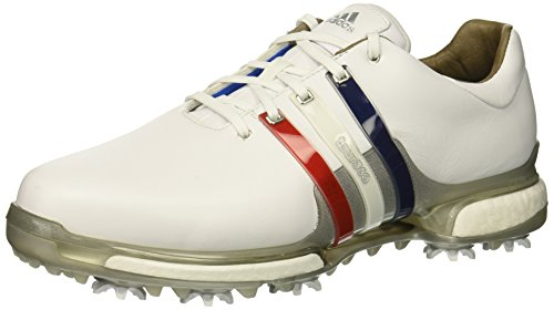 adidas Men's Tour360 2.0 Golf Shoe, FTWR White/Scarlet/Night Sky, 7 M US