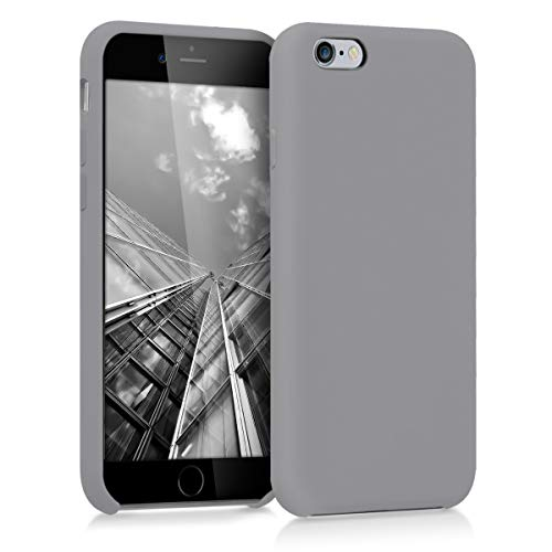 kwmobile TPU Silicone Case Compatible with Apple iPhone 6 / 6S - Case Slim Protective Phone Cover with Soft Finish - Titanium Grey