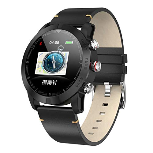 HHRONG Smart Watch, Heart Rate Monitor Blood Pressure Activity Watch, 1.3 Inch Tft Color Screen, Suitable for iOS Android Phone-A
