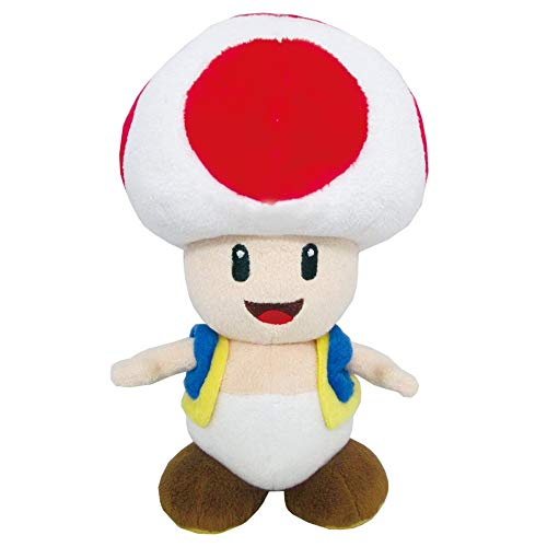 Little Buddy Super Mario All Star Collection 1417 Toad Stuffed Plush, Multicolored,7.5'