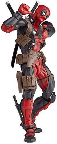 GHMHJH Deadpool Revoltech Action Figure - X-Men Series - Replaceable Accessories - High 6.29 Inches Movie Character Model Toys