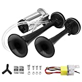 EONLION 12V Air Horn 150db Loud Trumpet Train Horn with Compressor for Car Truck Lorry Train Boat
