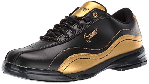 Hammer Bowling Products Mens Black Widow Gold Performance Bowling Shoes- Right Hand 11 1/2, Black/Gold, 11.5
