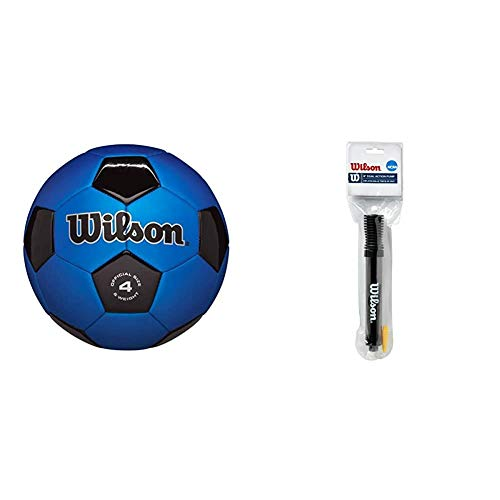 Wilson Traditional Soccer Ball with Wilson NCAA 6' Dual Action Pump