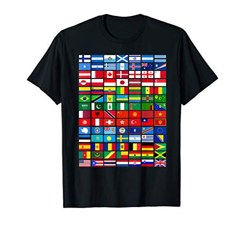 Flags of the Countries of the World, International Gift T-Shirt