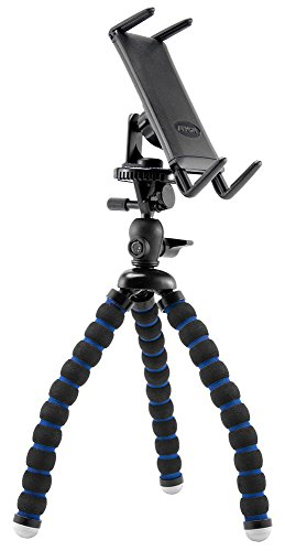 Arkon Tripod Phone Mount Holder Compatible with iPhone 12 11 XS XR Galaxy Note 20 10 9 S21 S20 S10 Retail Black