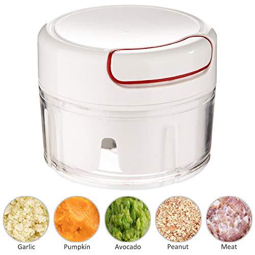 Averfeel Mini Garlic Chopper Manual Vegetable Chopper Food Processor for Vegetables, Garlic, Onion and Meat