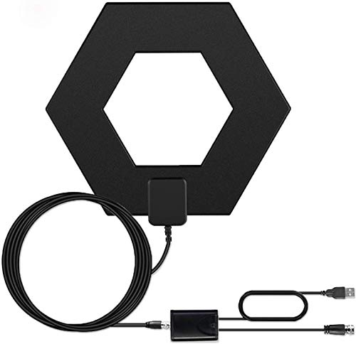 Indoor TV Antenna Amplified - New 2020 Version Efind 80 Miles Long Range Digital TV Antenna High Reception HDTV Antenna Support 4K 1080P Free Channels with Booster 9.8Ft Cable