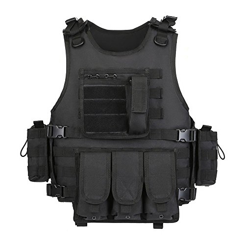 GZ XINXING Black Tactical Airsoft Paintball Vest (Black)