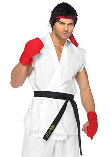 Leg Avenue Men's Street Fighter Ryu Costume, White, Small-Medium