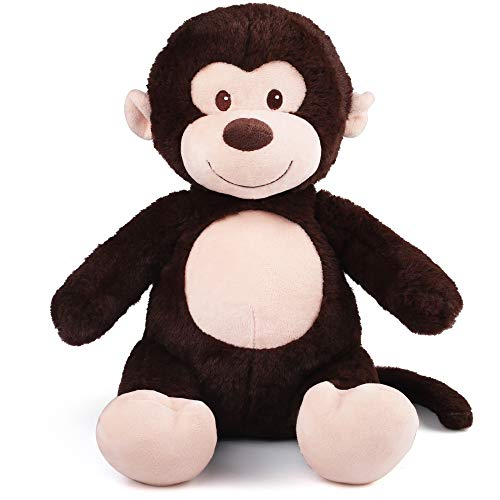 10' Monkey Stuffed Animals, Soft Cuddly Stuffed Monkey, Cute Stuffed Animal Plush Toy for Kids, Great Birthday Christmas Thanksgiving Gift for Toddlers Newborn Registry or Baby Shower