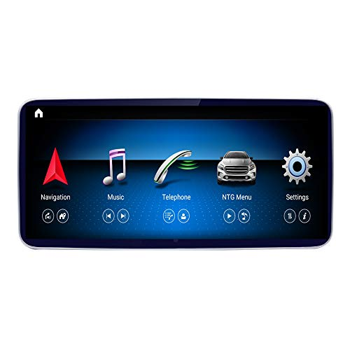 Road Top 10.25' Qualcomm Android 10 Car Touch Screen for Mercedes Benz C GLC Class W205 2015-2019,with Wireless Carplay Android Auto Split Screen Multimedia Player GPS Car Stereo Radio
