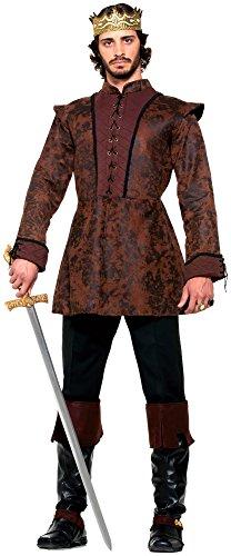 Forum Novelties Men's Medieval King Costume Coat, Brown, Standard