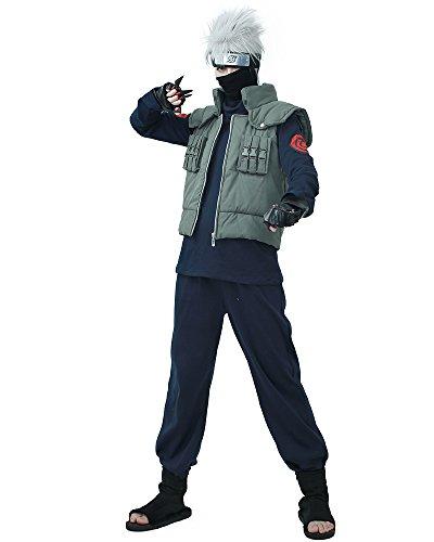 miccostumes Men's Fullset for Kakashi Hatake Cosplay Outfit (Men XL) Dark Blue