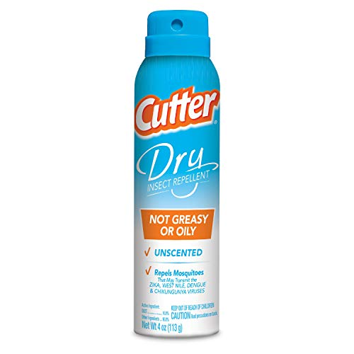 SPECTRUM BRANDS 96058 Cutter Dry Insect Repellent, Aerosol, 4-Ounce, Natural