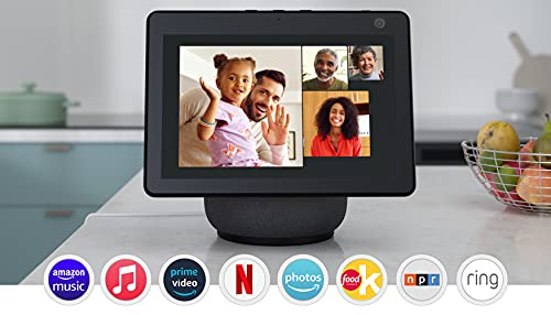 Echo Show 10 (3rd Gen) | HD smart display with motion and Alexa | Charcoal