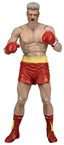NECA Rocky 40Th Anniversary Series 2 Drago Scale Action Figure(Red Trunks Version), 7', Red