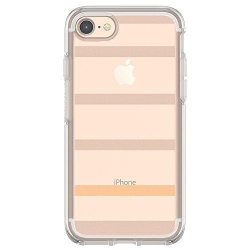 OtterBox SYMMETRY CLEAR SERIES Case for iPhone 8 & iPhone 7 (NOT Plus) - Retail Packaging - INSIDE THE LINES (CLEAR/INSIDE THE LINES)
