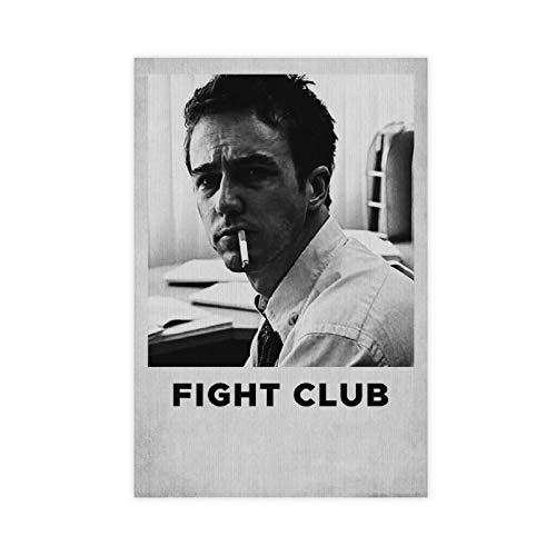 Brad Pitt Fight Club Classic Movie Wall Decor Poster Canvas Poster Wall Art Decor Print Picture Paintings for Living Room Bedroom Decoration 12×18inch(30×45cm) Unframe-style1