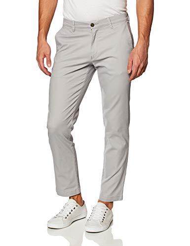 Amazon Essentials Men's Slim-Fit Casual Stretch Khaki, Light Grey, 35W x 32L