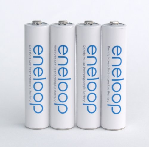 Sanyo Eneloop AAA NiMH Pre-Charged Rechargeable Batteries 4 Pack [Hassle Free Packaging]