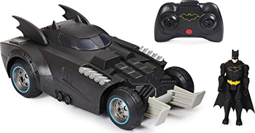 DC Comics Batman Launch and Defend Batmobile Remote Control Vehicle with Exclusive 4-inch Batman Figure, Kids Toys for Boys