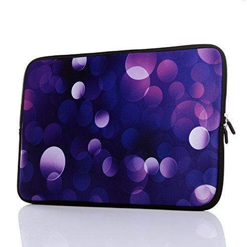 15.6-Inch Neoprene Laptop Sleeve Case with Hidden Handle for 14 14.1 15 15.6' Inch Men Women Acer/Asus/Dell/Lenovo/Thinkpad/Toshiba (15-15.6 Inch, Classic Blue)