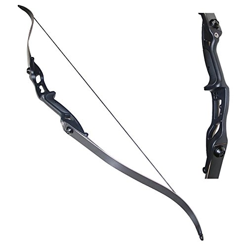 Toparchery Archery 56' Takedown Hunting 35lbs Recurve Bow Metal Riser Right Hand Black Longbow