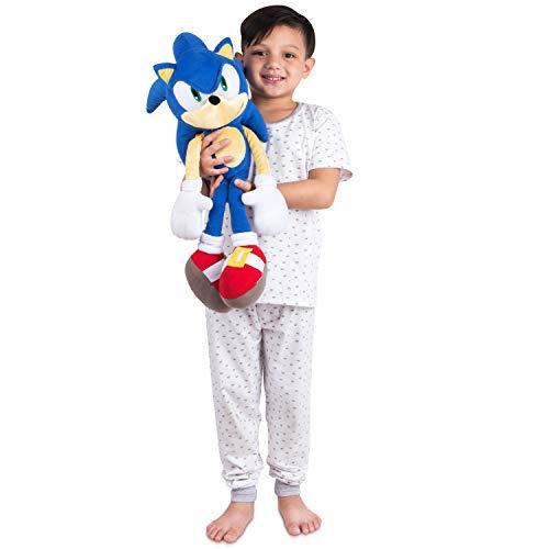 Franco Kids Bedding Super Soft Plush Cuddle Pillow Buddy, One Size, Sonic The Hedgehog