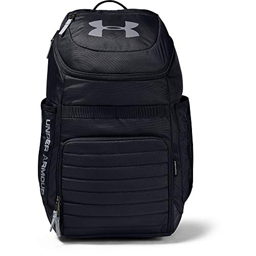 Under Armour Undeniable 3.0 Backpack,Black (001)/Steel, One Size Fits All Fits All