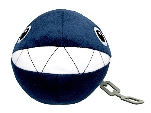 Little Buddy Super Mario All Star Collection 1592 Chain Chomp Stuffed Plush, 5',Multicolor