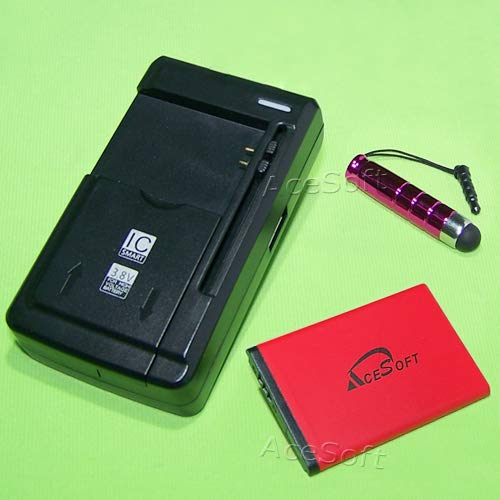 AceSoft 1070mAh Battery External USB Charger Screen Touch Pen for T-Mobile Samsung SGH-T139