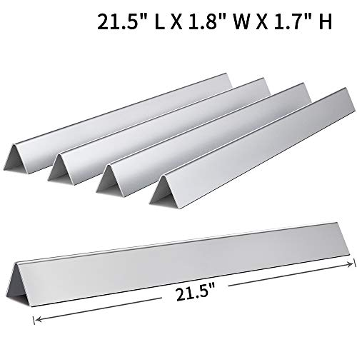 SHINESTAR 21.5 inch Flavorizer Bars for Weber Old Spirit 210, Genesis Silver A, Set of 5 Stainless Steel Flavor Bars 7534 for Weber Spirit e210 S210 200 with Side Control