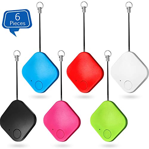 6 Pieces Bluetooth Key Finder Item Finder Phone Finder Smart Tracker Item Locator Key Tracker Compatible with Wireless Bluetooth Tracking Device for Keys, Phone, Lost Wallet, Pet Tracker Device