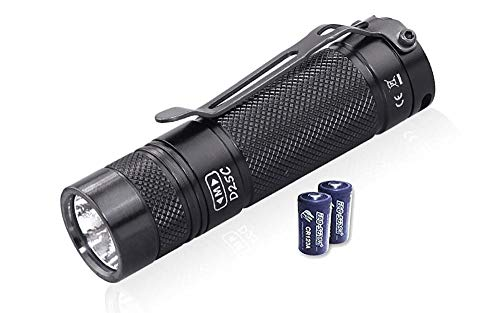 Value Bundle: Eagletac D25C MKII XM-L2 U4 Flashlight - 800 Lumen, 128 meter throw with 2x FREE Eco-Sensa Premium CR123A Batteries
