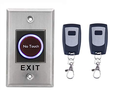 No Touch Contactless Infrared Door Exit Release Button Switch W/Remote Control for Access Control