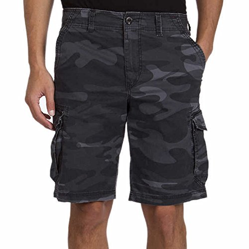 Unionbay Montego Cargo Shorts for Men Assorted Colors and Sizes - Comfort Stretch (42, Black Camo)