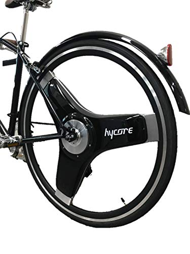 hycore 28' Rear Electric Wheel Bicycle Conversion Kit, T1, 360W Dual Motor, Portable Compact Lithium-ion Battery, PAS System, (Black)