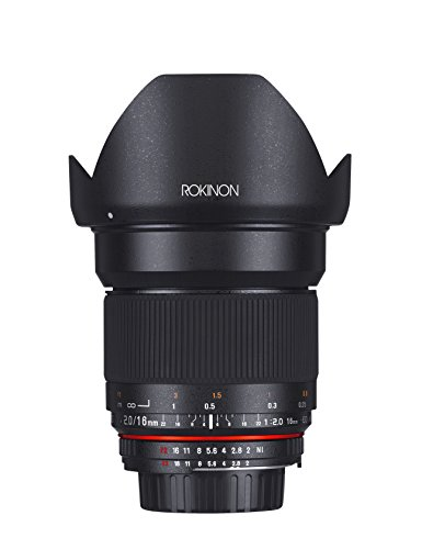 Rokinon 16MAF-N 16mm f/2.0 Aspherical Wide Angle Lens for Nikon (DX) Cameras