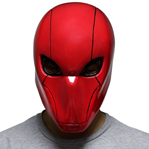 Red Hood Mask PVC Helmet Deluxe New Adult Halloween Party Masquerade Xcoser