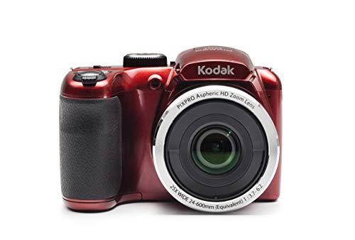 Kodak PIXPRO Astro Zoom AZ252-RD 16MP Digital Camera with 25X Optical Zoom and 3' LCD (Red) (Renewed)