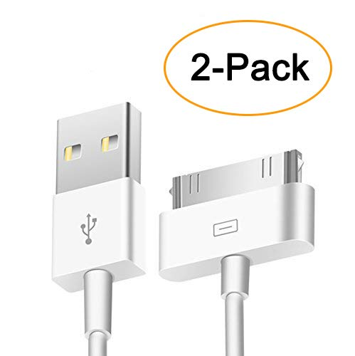Trenro 2pcs 30 Pin USB Sync Charging Cable Cord Replacement for Old Apple iPhone 4/4S 3G/3GS, iPad 1/2/3,iPod Nano/iPod Touch