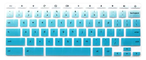 Silicone Keyboard Cover Compatible 11.6 inch HP Chromebook 11 G2, G3, G4, G5, G6 EE, 11.6' HP Chromebook x360, HP 14' Touch-Screen Chromebook 14-ca 14-ak Series, HP Chromebook 14 G2 G3 G4 (Ombre Blue)